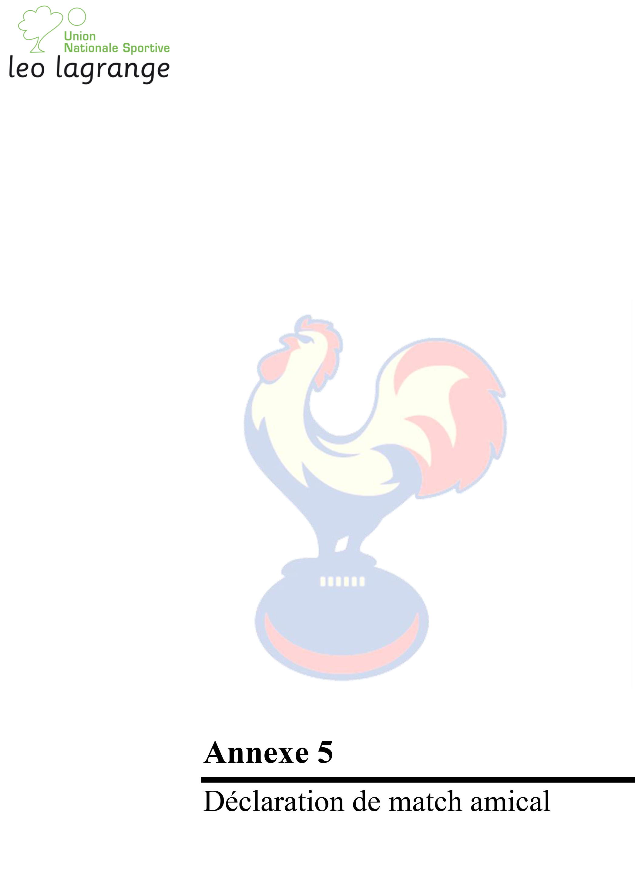 Annexe 5 Declaration match amical-1